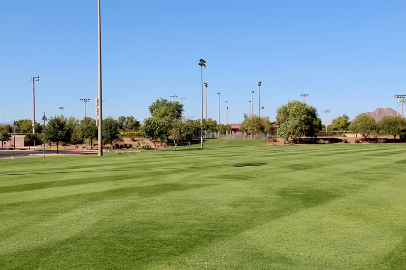 Lighted athletic and sports fields at the Anthem Community Park